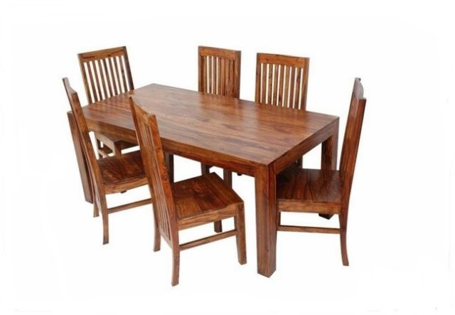 Sheesham Dining Tables And 4 Chairs Intended For Famous Jaipur  Indian Solid Sheesham Wood – 120Cm Dining Table And 4 Chairs (Gallery 6 of 20)