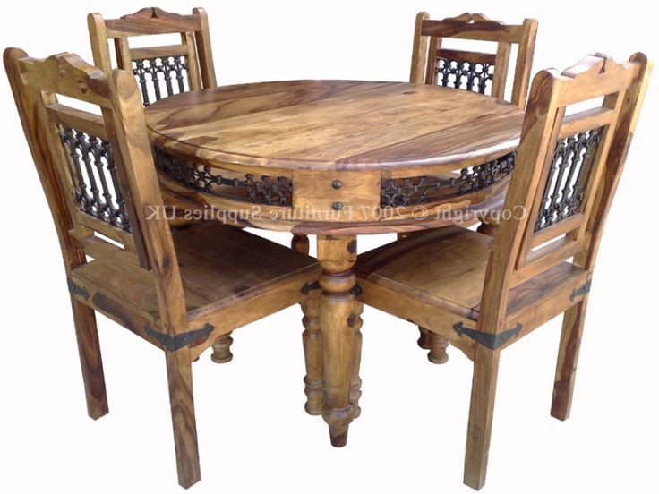 Sheesham Dining Tables And Chairs In Most Up To Date Sheesham Dining Table – Table Choices (Gallery 17 of 20)