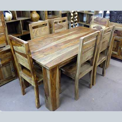Sheesham Dining Tables Intended For 2017 Kota Sheesham Dining Table And Six Chairs – Jugs Furniture (View 14 of 20)