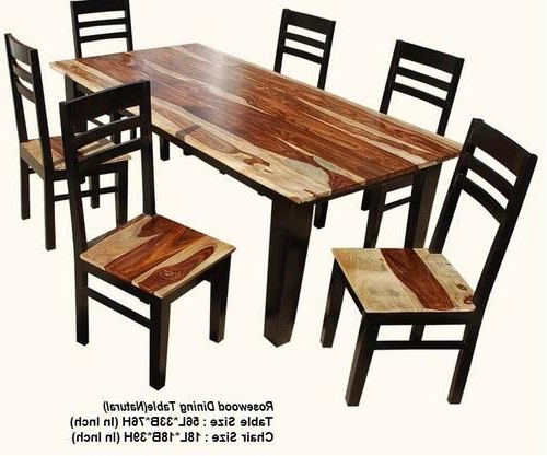 Sheesham Wood Dining Chairs Pertaining To Most Up To Date Pbc Wooden Sheesham Wood Dining Table, Rs 20000 /piece, Pal Balaji (View 12 of 20)