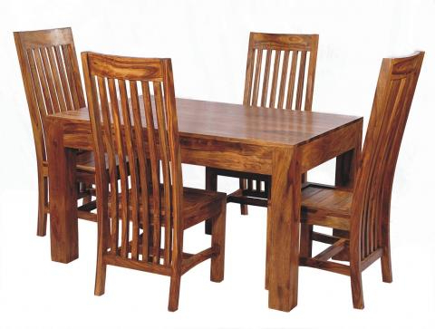 Sheesham Wood Dining Tables Inside Latest Sheesham Wood Dining Set, 6 Seater Dining Set, Wooden Dining Set (View 9 of 20)