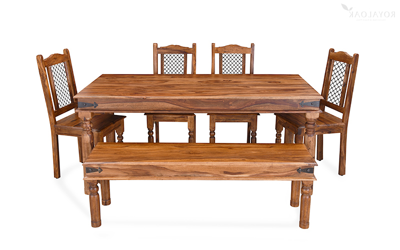 Sheesham Wood Dining Tables Within Popular Buy Royaloak Haveli 6 Seater Dining Table In Sheesham Woodonline (Gallery 1 of 20)