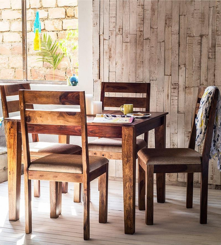 Sheesham Wooden Four Seater Dining Set At Rs 26599 /set (Gallery 14 of 20)