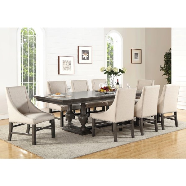 Shop Abbyson Marseilles City Grey 9 Piece Dining Set – Free Shipping Intended For Most Up To Date Logan 6 Piece Dining Sets (View 4 of 20)