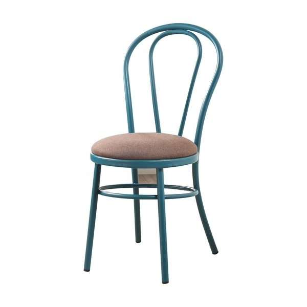 Shop Acme Cooper Side Chair In Teal And Fabric, Set Of 2 – N/a Pertaining To Popular Cooper Upholstered Side Chairs (View 17 of 20)