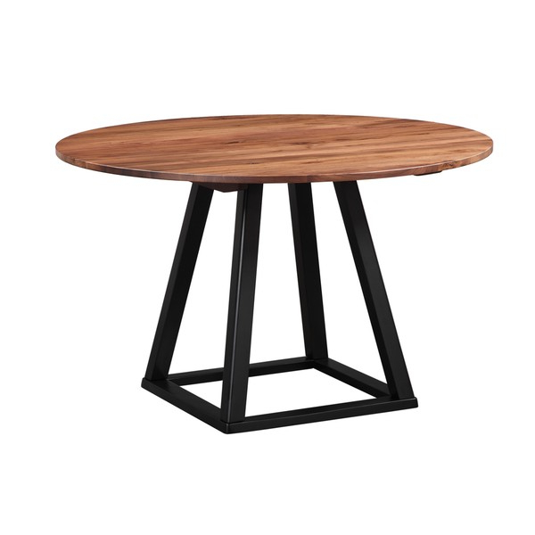 Shop Aurelle Home Rustic Craftsman 48 Inch Round Dining Table – On Intended For Most Popular Craftsman Round Dining Tables (View 17 of 20)