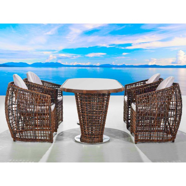 Shop Bel Air 5 Piece All Weather Outdoor Dining Set – Free Shipping For Well Liked Valencia 5 Piece 60 Inch Round Dining Sets (View 17 of 20)