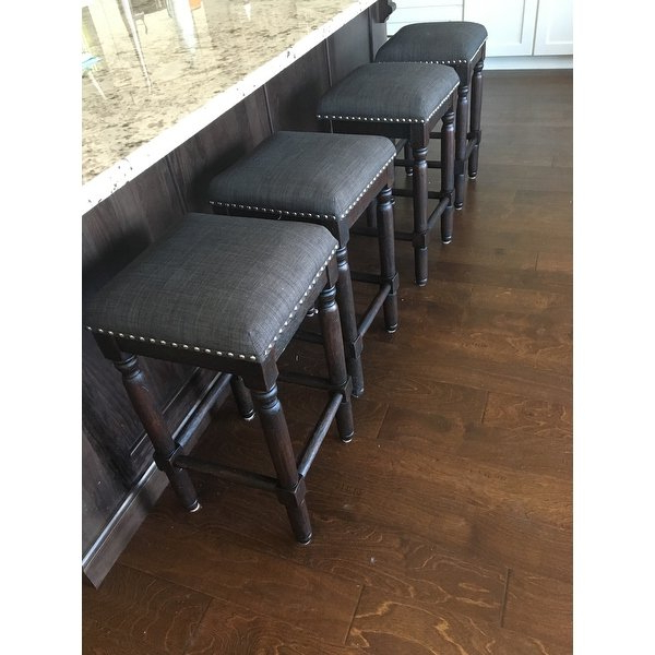 Shop Carbon Loft Branson Coffee Counter Stools (set Of 2) – Free Inside Widely Used Laurent 7 Piece Counter Sets With Upholstered Counterstools (View 14 of 20)