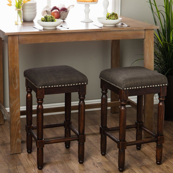 Shop Carbon Loft Branson Coffee Counter Stools (set Of 2) – Free Regarding Well Liked Laurent 7 Piece Counter Sets With Upholstered Counterstools (View 2 of 20)
