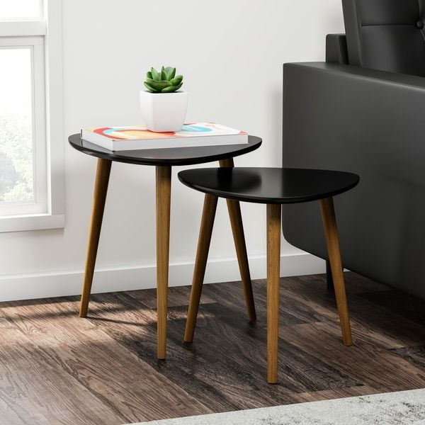Shop Carson Carrington Odda Nesting End Table Set – On Sale – Free In Trendy Valencia 72 Inch Extension Trestle Dining Tables (View 12 of 20)