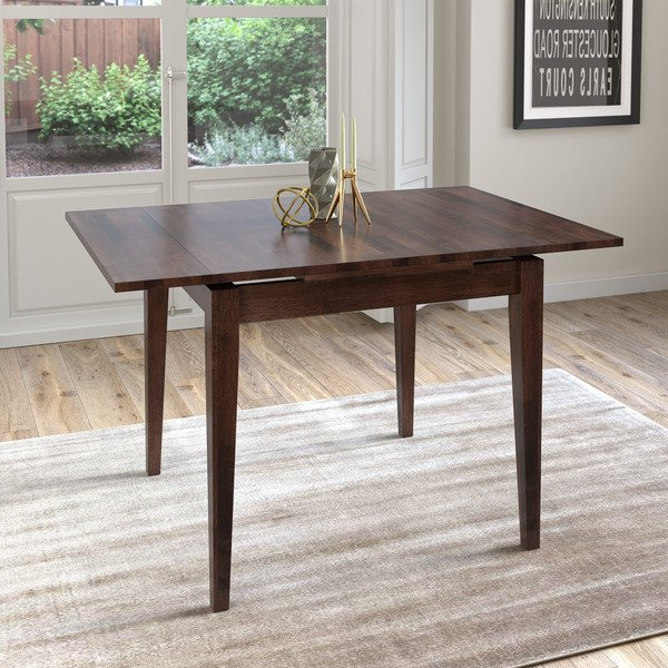 Shop Corliving Cappuccino Extendable Square Dining Table – Free Inside Fashionable Extendable Square Dining Tables (View 6 of 20)