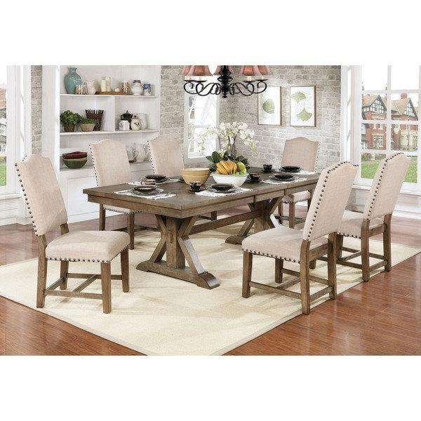 Shop Furniture Of America Cooper Rustic Light Oak Finish Wood With Regard To Famous 87 Inch Dining Tables (View 6 of 20)