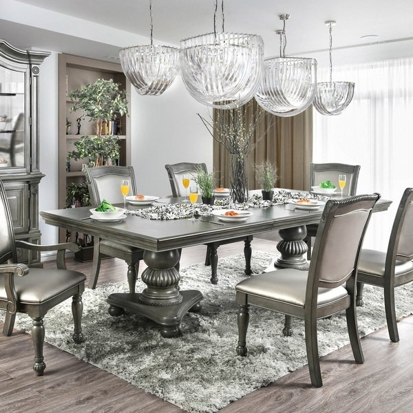 Shop Furniture Of America Shayson Traditional Grey 103 Inch Dining Intended For Recent 87 Inch Dining Tables (View 16 of 20)