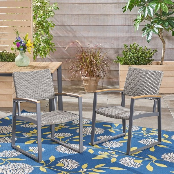 Shop Glasgow Outdoor Dining Chairs With Aluminum Frame (set Of 2) Inside 2018 Glasgow Dining Sets (View 16 of 20)