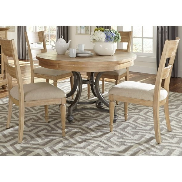 Shop Harbor View Sand 5 Piece Round Table Set – On Sale – Free In Most Current Jaxon 5 Piece Extension Counter Sets With Fabric Stools (View 18 of 20)