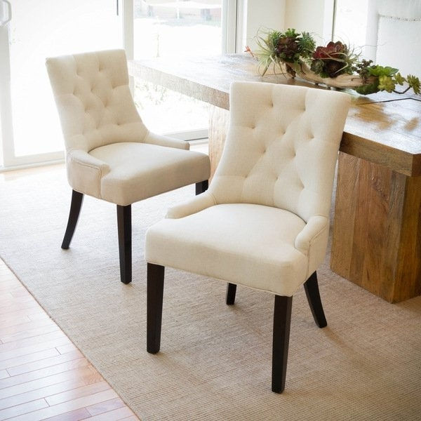 Shop Hayden Tufted Fabric Dining/ Accent Chair (Set Of 2) Intended For Widely Used Hayden Ii Black Side Chairs (View 16 of 20)