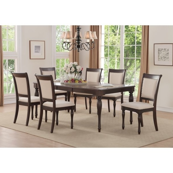 Shop Home Source Penelope Ivory 5 Piece Dining Set With 1 Table And In Preferred Caden 6 Piece Rectangle Dining Sets (View 18 of 20)