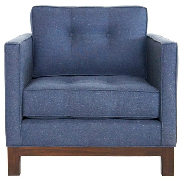Shop Jaxon Marley Blue Upholstered Armchair – Free Shipping Today With Regard To Current Jaxon Upholstered Side Chairs (View 16 of 20)