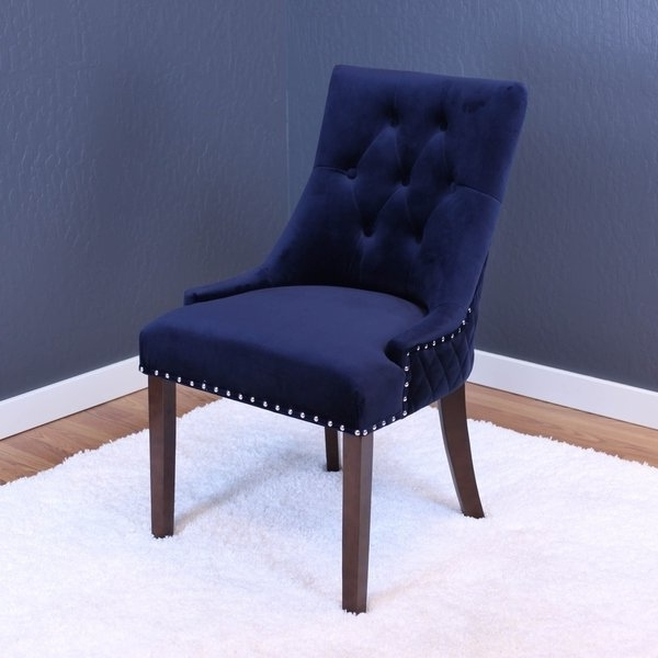 Shop Lemele Tufted Velvet Dining Chairs (set Of 2) – On Sale – Free Pertaining To Most Recent Dining Chairs With Blue Loose Seat (View 11 of 20)