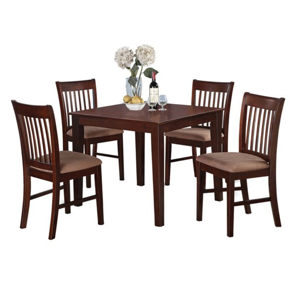 Shop Mahogany Square Table And 4 Chairs 5 Piece Dining Set – Free Inside Favorite Mahogany Dining Tables And 4 Chairs (View 19 of 20)
