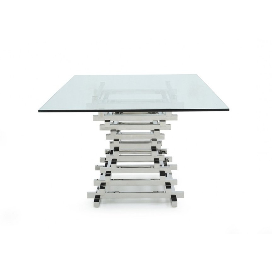 Shop Modrest Crawford Modern Rectangular Glass Dining Table – On For Favorite Crawford Rectangle Dining Tables (View 12 of 20)