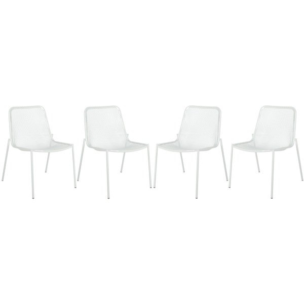Shop Safavieh Metropolitan Dining Orion White Dining Chairs (Set Of Regarding Best And Newest Orion Side Chairs (View 17 of 20)