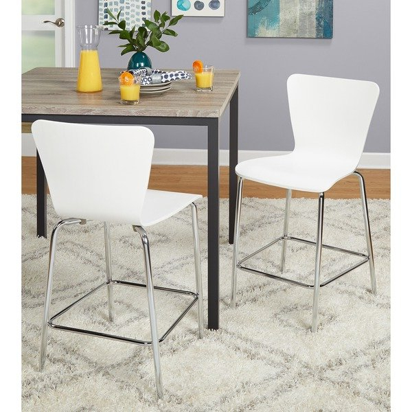 Shop Simple Living 24 Inch Pisa Stool (set Of 2) – On Sale – Free Pertaining To Well Known Valencia 5 Piece Counter Sets With Counterstool (View 12 of 20)
