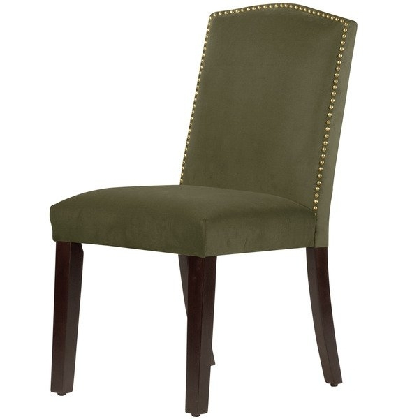 Shop Skyline Furniture Regal Velvet Moss Cotton Arched Dining Chair Within Well Known Mindy Slipcovered Side Chairs (View 12 of 20)