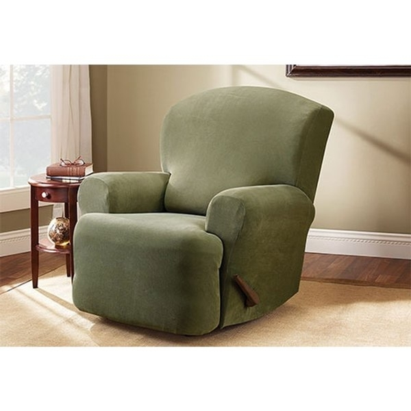 Shop Sure Fit Stretch Pearson Recliner Slipcover – Free Shipping Inside Recent Pearson White Slipcovered Side Chairs (View 5 of 20)