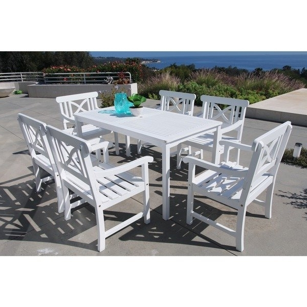 Shop The Gray Barn Bluebird 7 Piece Table And Arm Chair Outdoor Intended For Most Popular Candice Ii 7 Piece Extension Rectangular Dining Sets With Uph Side Chairs (View 8 of 20)