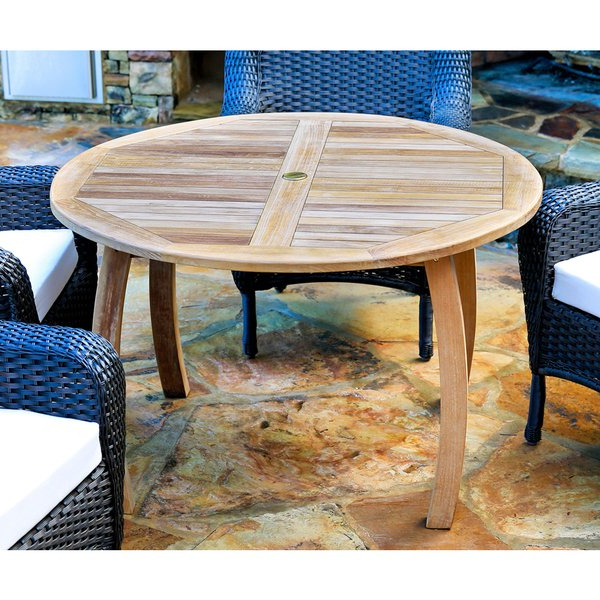 Shop Tortuga Outdoor Teak 48 Inch Dining Table – On Sale – Free Regarding Popular Outdoor Tortuga Dining Tables (View 15 of 20)