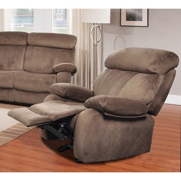 Shop Walden Mocha Brown Corduroy Reclining Chair – Free Shipping Pertaining To Newest Walden Upholstered Arm Chairs (View 13 of 20)