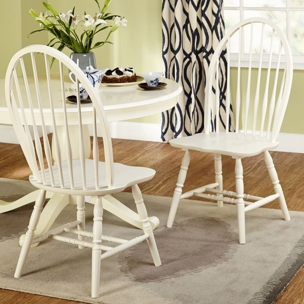 Simple Living Alexa Antique White Dining Chairs (set Of 2 With Famous Alexa White Side Chairs (View 2 of 20)
