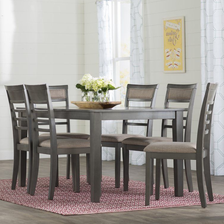 Simple Living Farmhouse 5 Or 7 Piece Oak (brown) Dining Se Intended For Well Liked Rocco 7 Piece Extension Dining Sets (View 9 of 20)