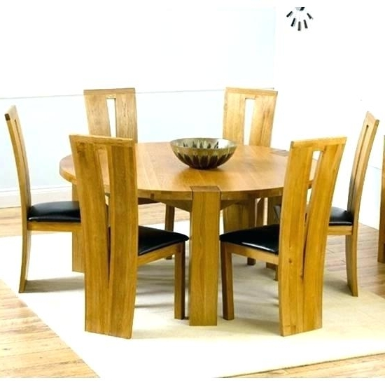 Six Seat Round Dining Table Round Glass Table Top Seating Intended For 2018 6 Seat Round Dining Tables (View 17 of 20)