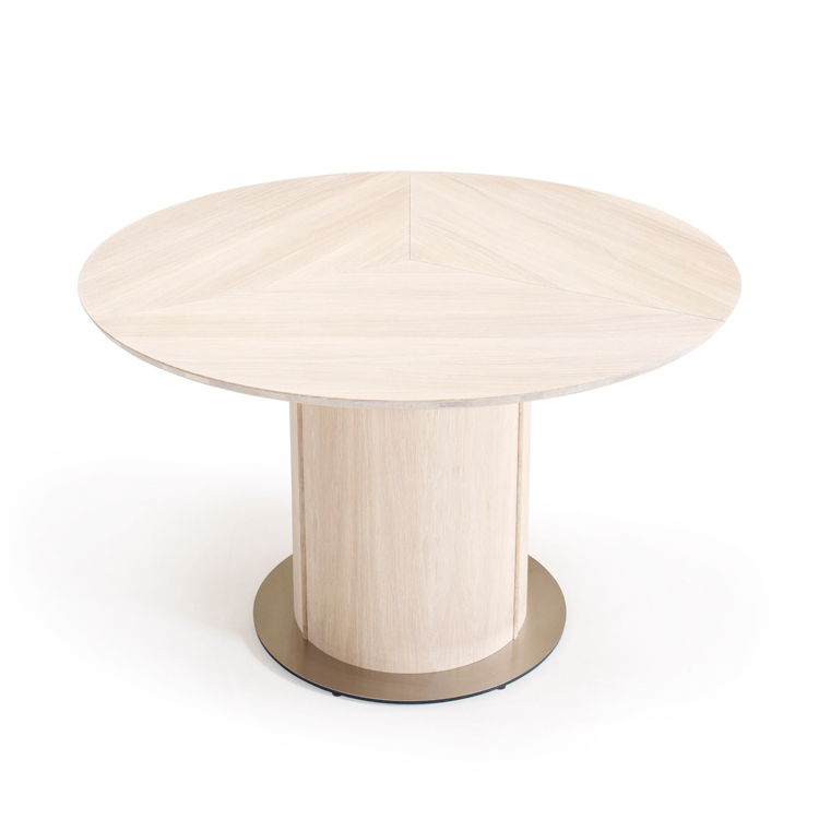 Skovby Oak Extending Round Dining Sm32 Table (View 19 of 20)
