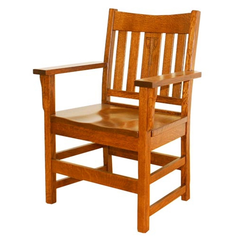 Slat Back Arm Chairs Ac Ac1 Aurora Crofter Tree Crowns Craftsman Throughout Most Recent Craftsman Arm Chairs (View 9 of 20)