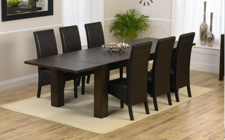 Small Dark Wood Dining Tables Inside Fashionable Oak Dining Room Set Wit Dark Wood Dining Table And 6 Chairs Amazing (Gallery 11 of 20)