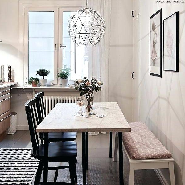 Small Dining Tables And Bench Sets With Regard To Widely Used Small Dining Room Sets With Bench Round Table And Chair Set Fair (View 13 of 20)