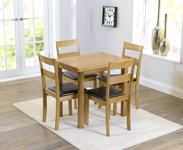 Small Extending Dining Tables And Chairs Within Preferred Decoration: Small Extending Dining Table And Chairs Buy The 4 Chair (Gallery 6 of 20)