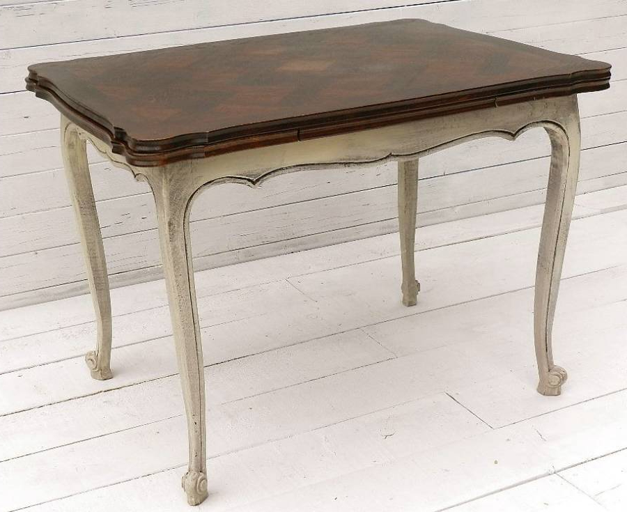 Small French Extending Dining Table Louis Xv Rev In From Tryst D'amour Pertaining To Most Popular French Extending Dining Tables (View 19 of 20)