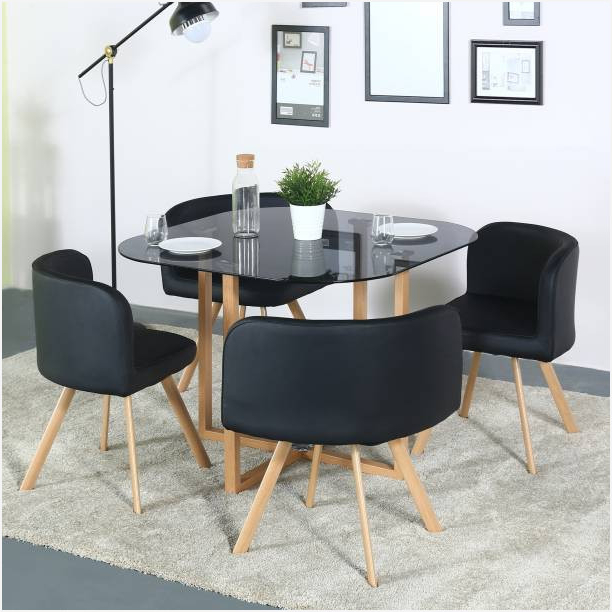 Small Glass Top Kitchen Table » Warm 4 Seater Dining Tables Sets Within Newest Small 4 Seater Dining Tables (Gallery 11 of 20)