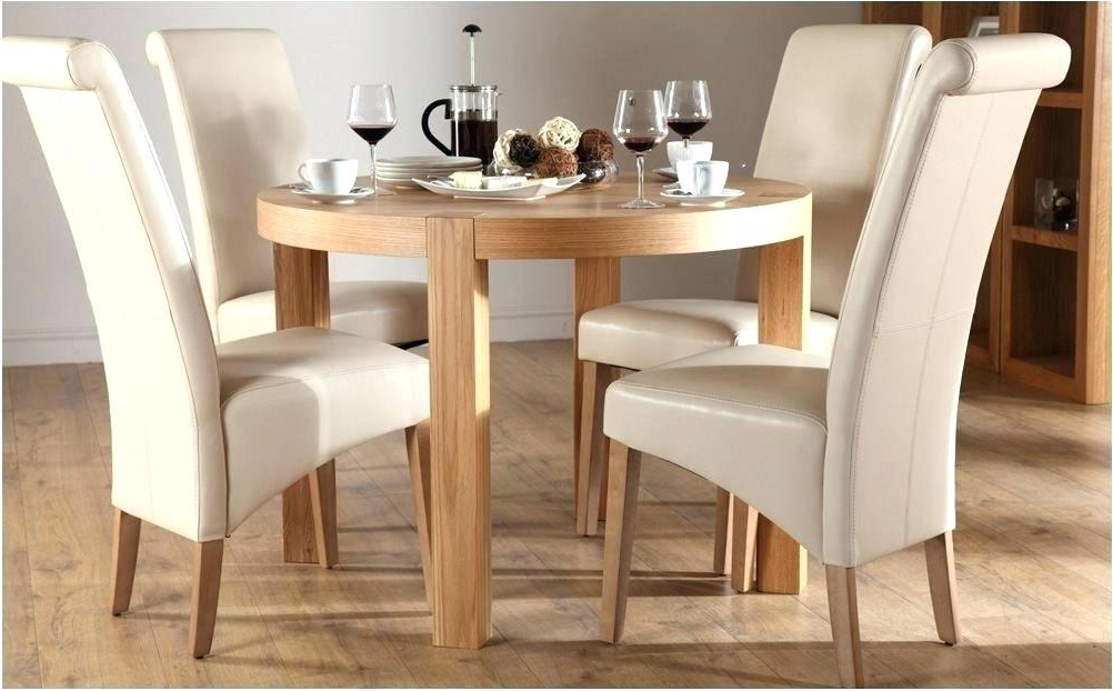 Small Oak Dining Tables With Regard To Most Recent Round Dining Table For 4 Round Dining Table 4 Chairs Small Set (Gallery 12 of 20)