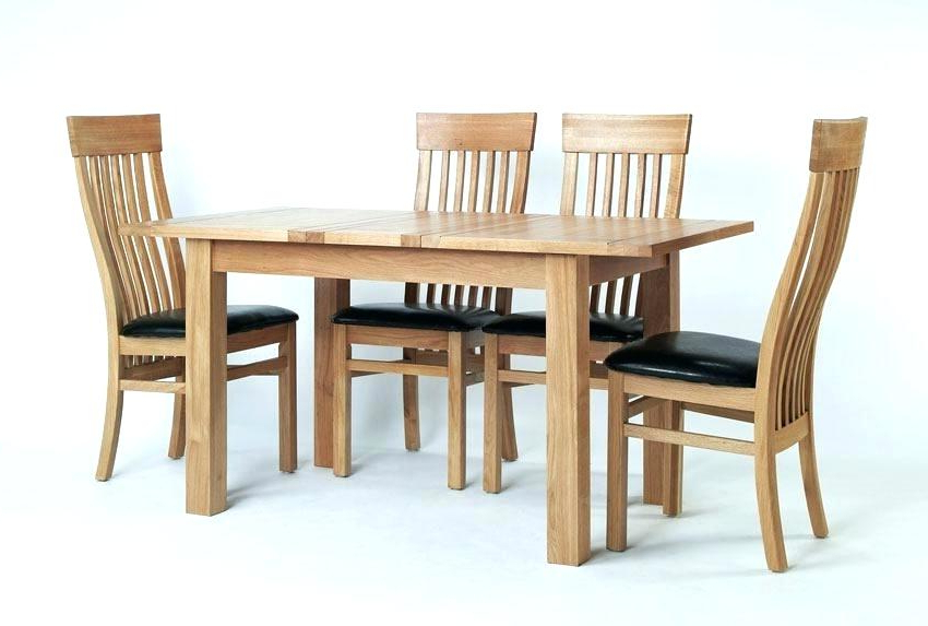 Small Oak Extending Dining Table And 4 Chairs Kitchen Room Design Within Preferred Small Oak Dining Tables (Gallery 9 of 20)