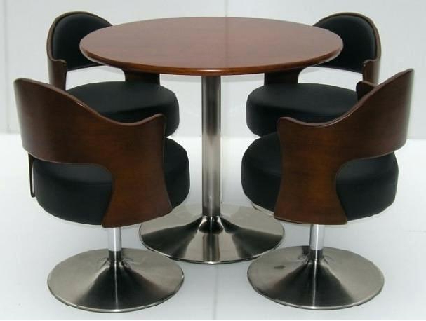 Small Round Dining Table With 4 Chairs In Most Recent Black Small Round Dining Table Sets For 4 Chair Ideas Inside Set (View 15 of 20)