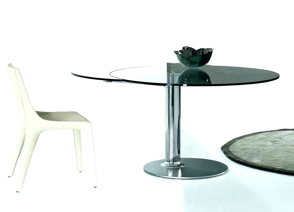 Small Round Extending Dining Tables For Best And Newest Dining Table Round Extendable Round Extendable Pine Dining Table (View 11 of 20)