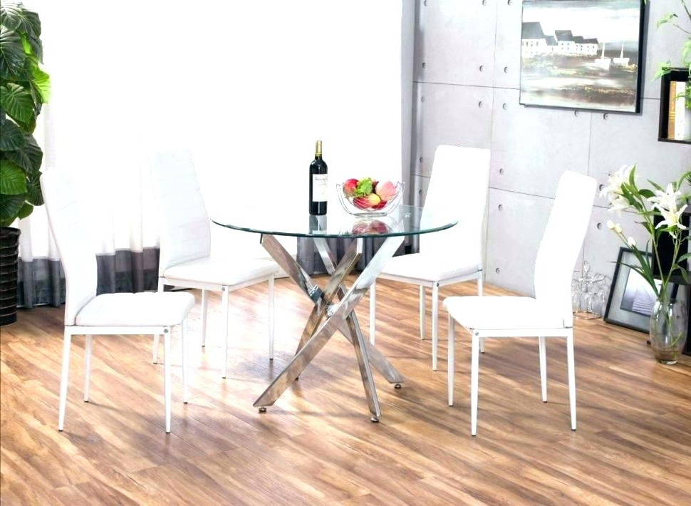 Small Round Kitchen Table Sets Small White Dining Set Small White Pertaining To Trendy Small White Dining Tables (View 13 of 20)