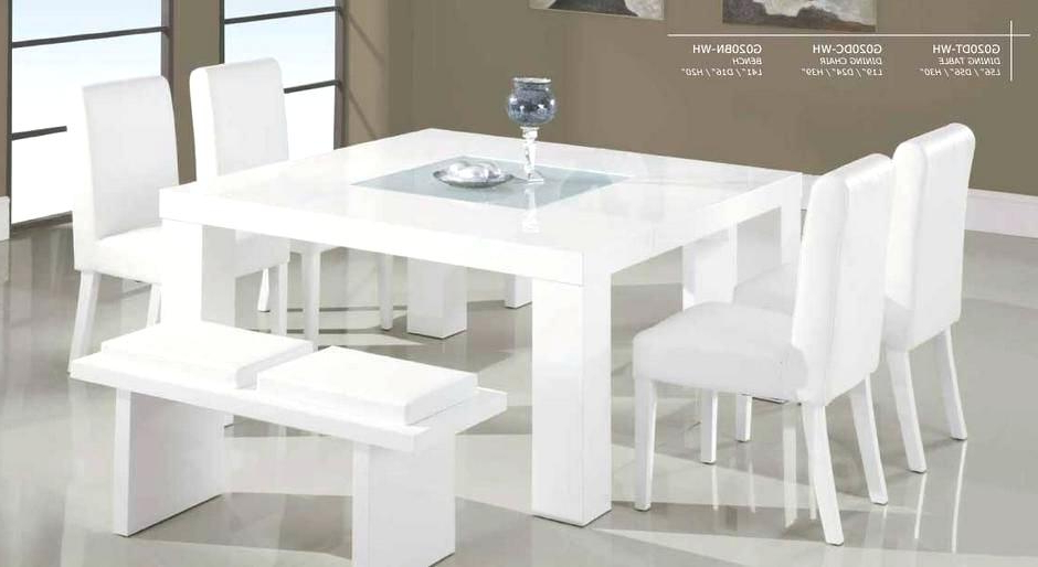 Small Square Extendable Dining Table Creative Of Square White Dining In Trendy Small White Dining Tables (Gallery 11 of 20)