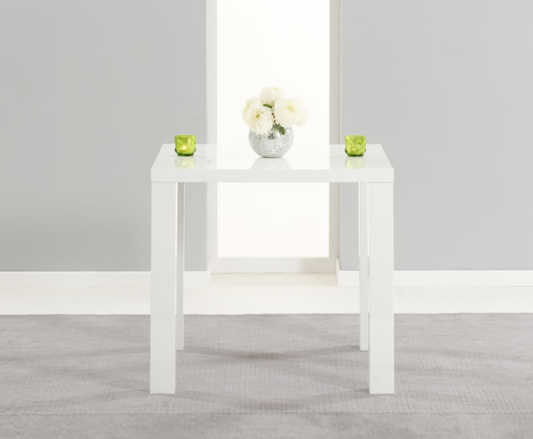 Small White Dining Tables Intended For Most Popular Earlham Small White High Gloss Dining Table – Frances Hunt (View 16 of 20)
