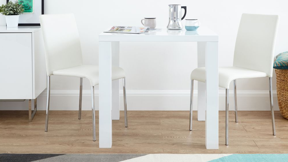 Small White Dining Tables Intended For Newest White Gloss Dining Set (View 1 of 20)
